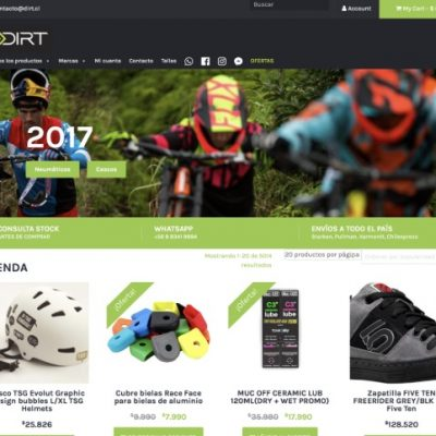 Tienda online www.dirt.cl